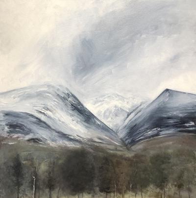 'A snowy day on Blencathra' Print