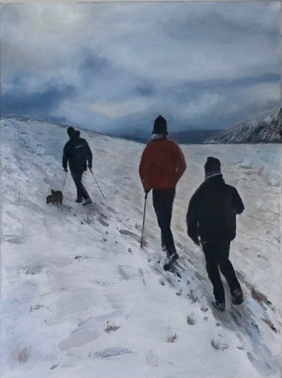 'A walk in the snow' - SOLD