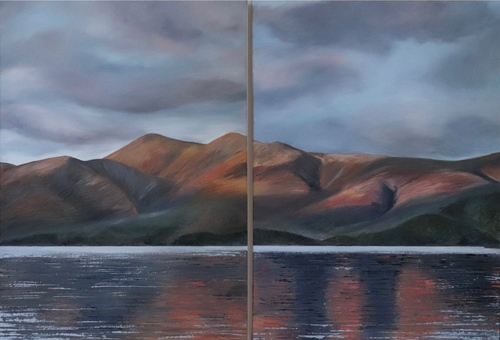 Diptych - Sunset reflections over Skiddaw