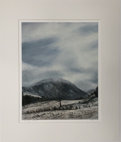 'Wintry scene near Aira Force' Print