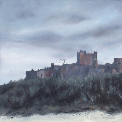 Bamburgh Castle at dusk