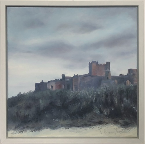 Bamburgh Castle at dusk