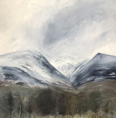 'A snowy day on Blencathra' Print