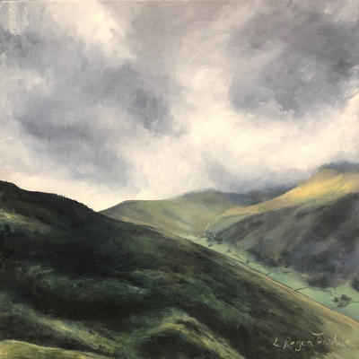 Glimpse of sunlight towards Kirkstone Pass - SOLD (prints available)