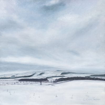 'Northumberland Hills on a Winter's day' Print
