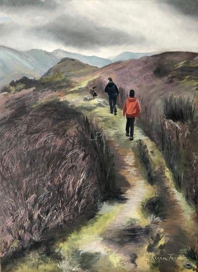 Walking towards Martindale - SOLD
