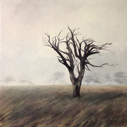 'Windswept tree on a misty fell' Print